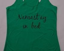popular items for namaste in bed on etsy. Black Bedroom Furniture Sets. Home Design Ideas