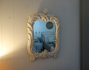 Vintage Syroco Wood Mirror, Shabby  Chic, Cottage, Home Decor