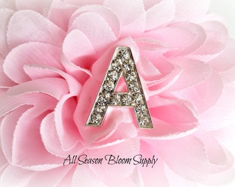 "Letter ""A"" Crystal Rhinestone Button - Rhinestone Button - Acrylic Rhinestone -  23 mm"
