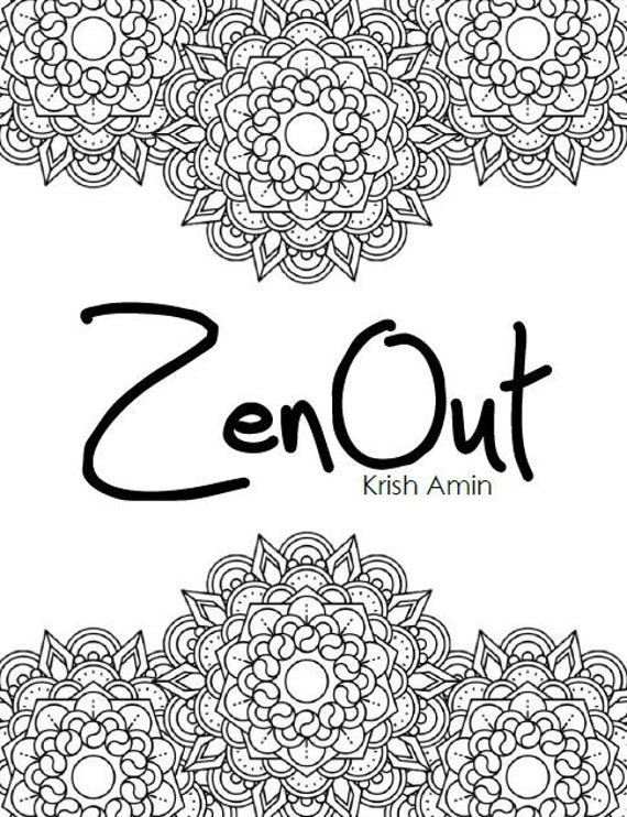 Zen Out Intricate Mandala Coloring Book Volume 1 By KrishandBoShop