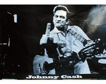 Johnny Cash finger poster 24 x 36