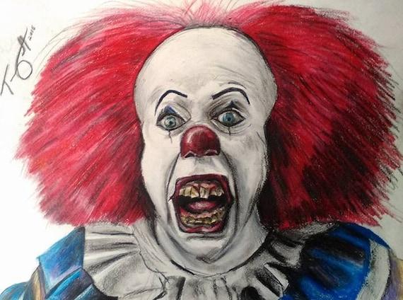 Il dessin tim curry horreur clown tueur dark mal par - Dessin horreur ...