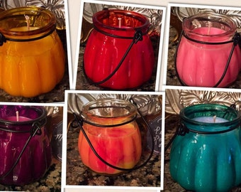 5 oz Soy Candle in Melon Lantern