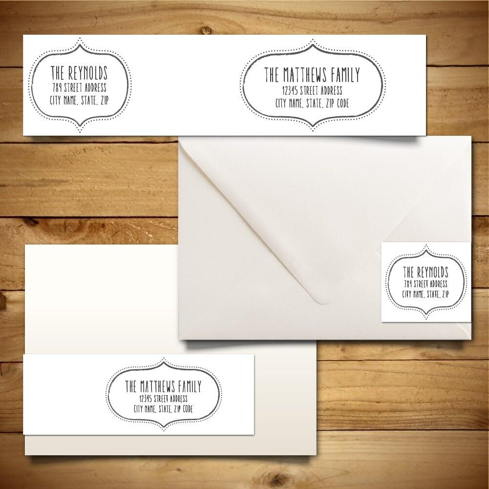 printable address label template for a7 envelopes return. Black Bedroom Furniture Sets. Home Design Ideas