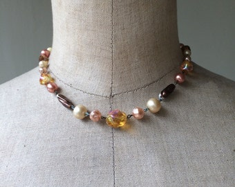1950's vintage beaded necklace with hook
