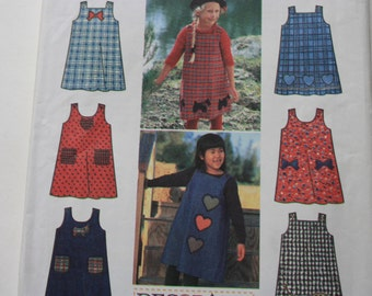 UNCUT Simplicity  9734 -  Girls Jumper - 1990's Fashion