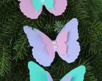 Pastel Layered Butterflies Table Decoration/Bridal Shower/BabyShower/Birthday/Wedding /Wall decor