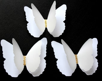 White Snow Layered Butterflies Wedding Table Decoration / Bridal Shower/Party Decoration/Wall decor