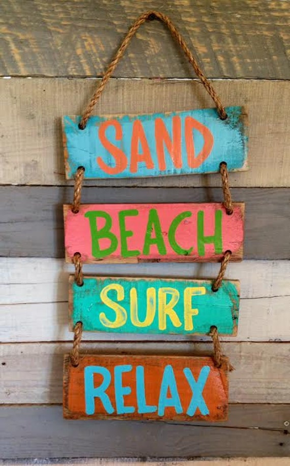 Items Similar To Beach Sign Sand Beach Surf Relax Personalized Sign Pallet Sign Key West Sign