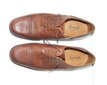 Vintage men's shoes,brown,perfect condition, handwork Italian real leather. Vtg country,rockabilly,retrò,mad men