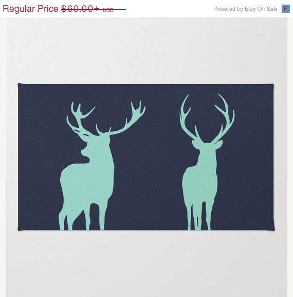 Deer Rug Woodland Nursery Rug Antler Rustic By