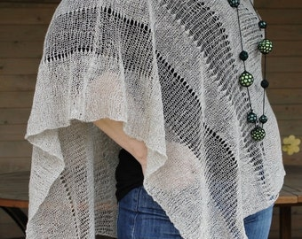 Pure Linen Pancho Cape Beige wrap poncho linen sweater pancho linen capeBeige Scarf Knit Shawl Modern Clothing Accessories