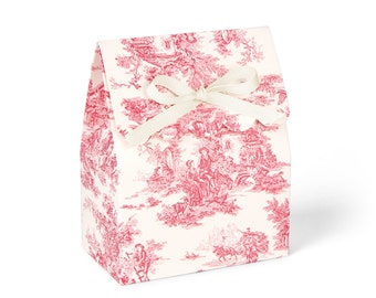 Toile box, Wedding favor boxes, Toile bridal shower, Toile party favor, Toile paper, Baby shower treat boxes, Baby candy box, Set of 8
