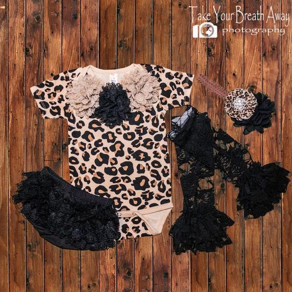 Newborn girls leopard print outfit girl by keepsakekonnections - Cheetah print centerpieces ...