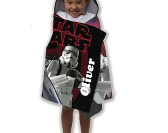 Star Wars Stormtrooper Hooded Beach Towel Wrap – Personalized