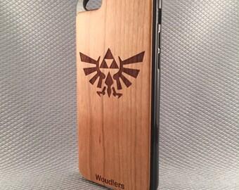 Wooden iPhone Cases - zelda triforce - triforce iphone case - iPhone 6 - 4/4s, 5/5s and iPhone 6 - FREE Shipping