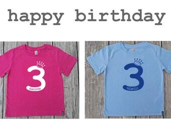 """Kids T-Shirt (organic) birthday """"3"""""""
