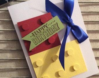 Homemade Birthday Lego  Card