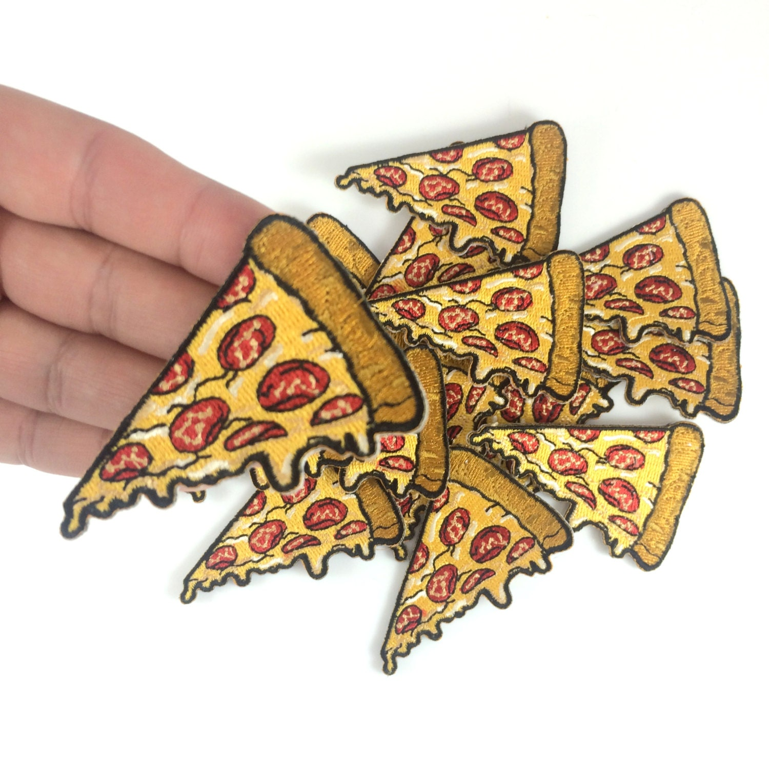 Pizza Patch Iron On Patch Embroidered Applique