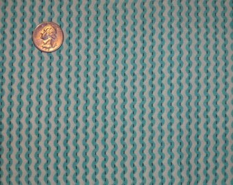 Blue Rick Rack Ric Rac Stripe Cotton Quilting Fabric BTY By The Yard baby boy