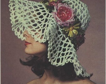 Crochet HAT Pattern Vintage 70s Daisy Crochet Hat Pattern Summer Crochet Hat Pattern