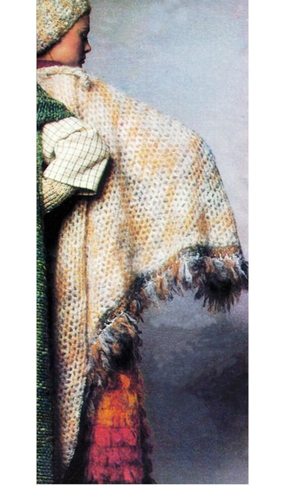 Crochet Coat Pattern Vintage 70s Faux Fur Reversible ...