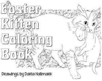 Foster Kitten Coloring Book