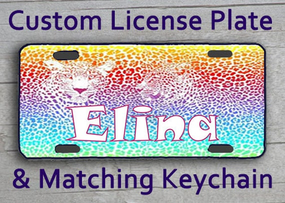 Items similar to Custom Monogrammed Personalized License ...