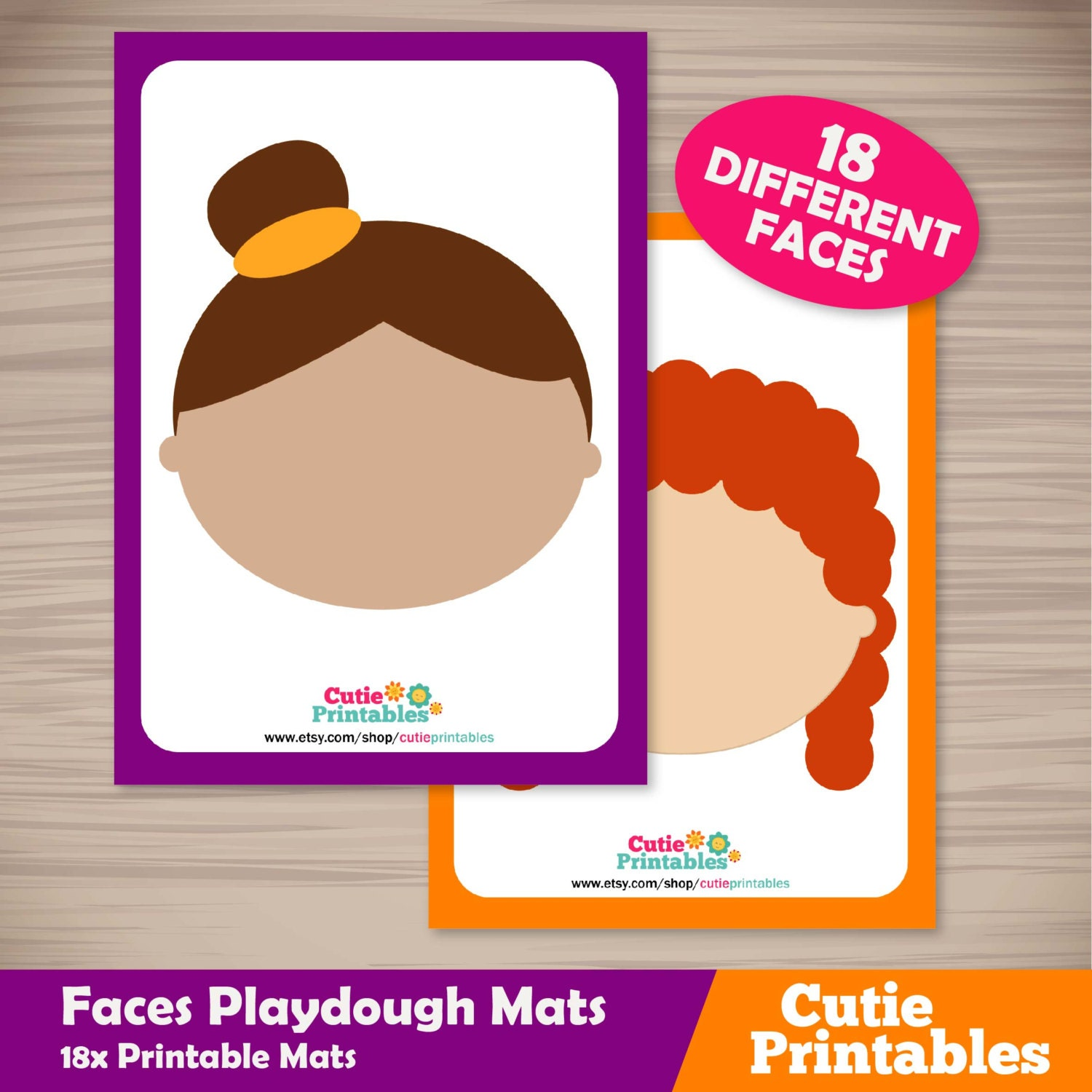 It is a photo of Vibrant Play Dough Mats