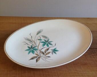 Vintage Mid-century Wheat Plate, Servier Platter