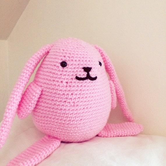Large Pink Amigurumi Bunny