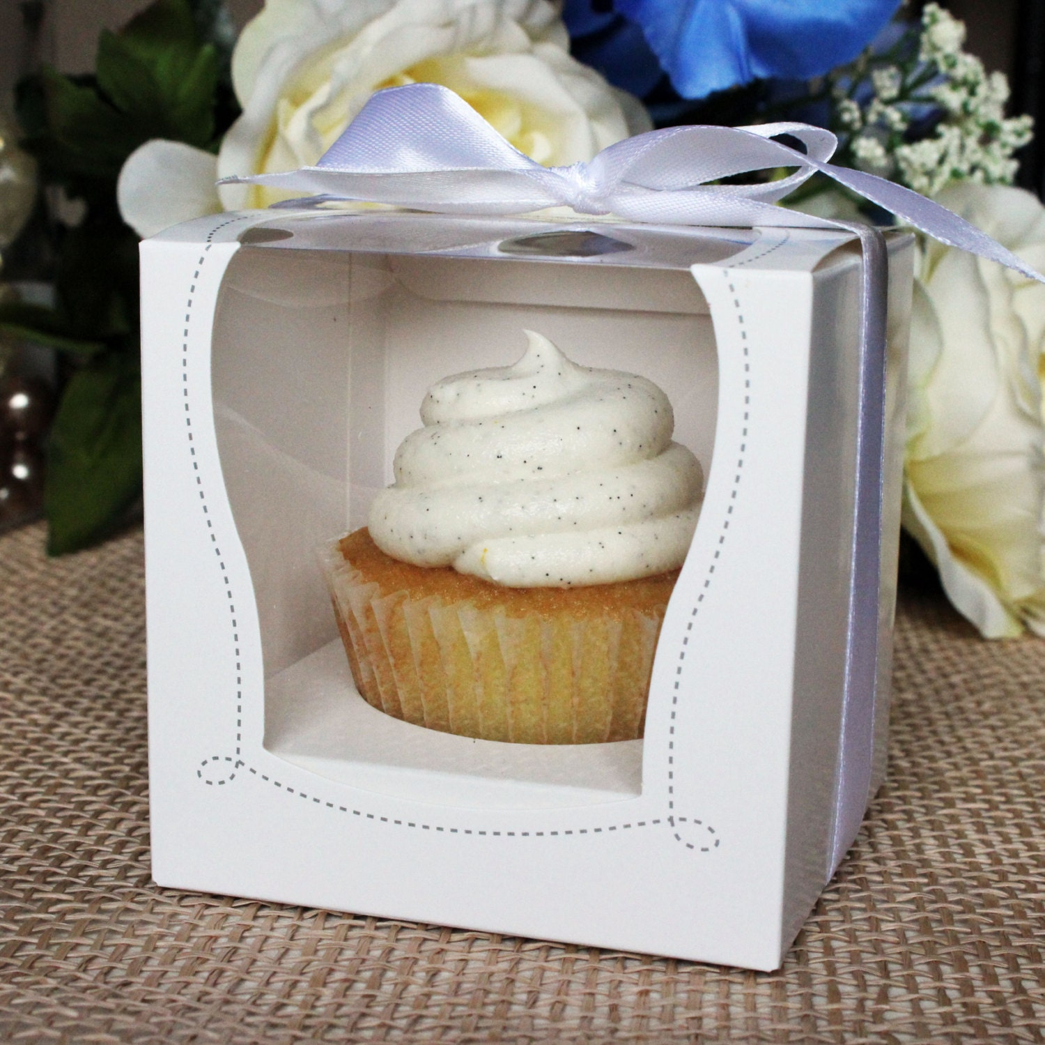 White Cupcake Muffin Cake Boxes Party Shower Favor Gift