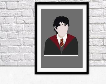 Neville Longbottom Movie Poster - Harry Potter A4 Digital