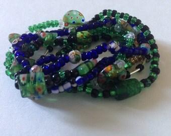 Multi Blue Green Blend Bracelets