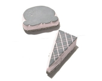 Ice Cream and Cone Rubber Stamp   015087