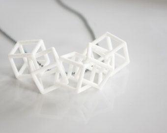 Interlocking cube pendant