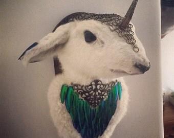 Elven Warrior Lamb Taxidermy
