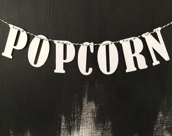 Popcorn/movie party bunting/banner great for weddings and parties