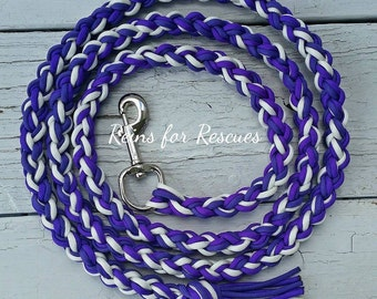 Purple Arrows Lead Rope with White