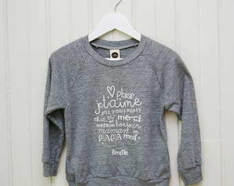 """T-shirt for kids ' use words, family """""""