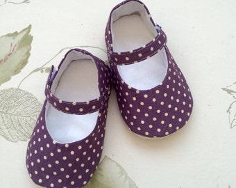 Traditional Mary Jane baby shoes, pram/crib shoe