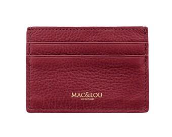 MAC&LOU Italian Leather Cardholder Wallet Burgundy