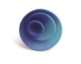 3d printed hand dyed nylon ring.