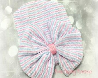 Baby Hospital Hat, Newborn Hat, Baby Girl Hat, Baby Shower Gift, Baby Beanie, Baby Girl Beanie, Newborn Girl Cap, Newborn Cap, Baby Hat