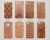 Sacred Geometric Pattern Wood Phone Case Samsung Galaxy S9 S8 plus S7 S6 edge S5 mini A5 (2016) Note 8 5 4 Custom Design Cherry Wooden Cover