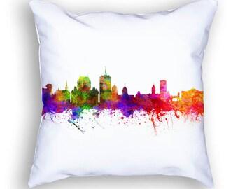 Quebec Pillow, Quebec Canada, Quebec Skyline, Quebec Cityscape, 18x18, Cushion Home Decor, Gift Idea, Pillow Case 02