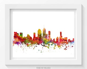 Brisbane Poster, Brisbane Skyline, Brisbane Cityscape, Brisbane Print, Brisbane Art, Brisbane Decor, Home Decor, Gift Idea 08