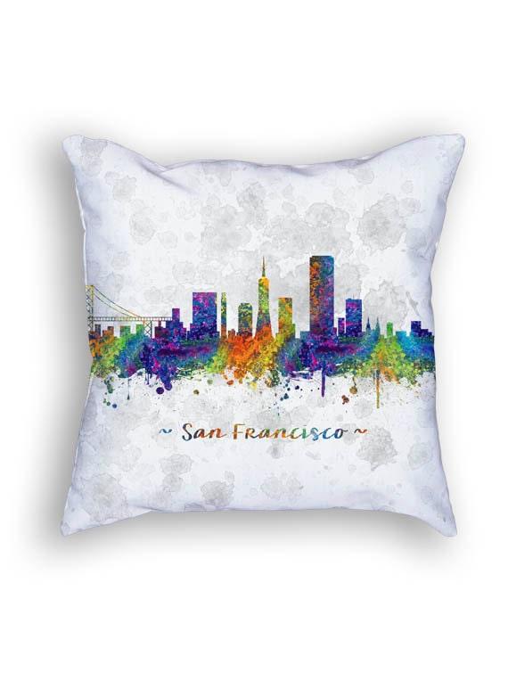 San Francisco California Throw Pillow 18x18 Cushion by Agedpixel