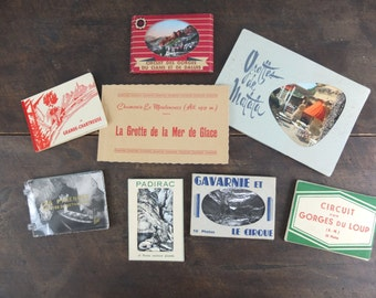 8 sets of tourist photo cards / mountain and natural curiosities de France / Vintage