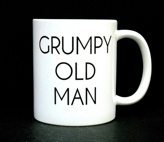 Coffee cup funny coffee mug grumpy old man dad funny mug - Two and a half men coffee mug ...